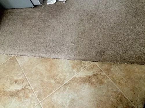 transition between tile carpet
