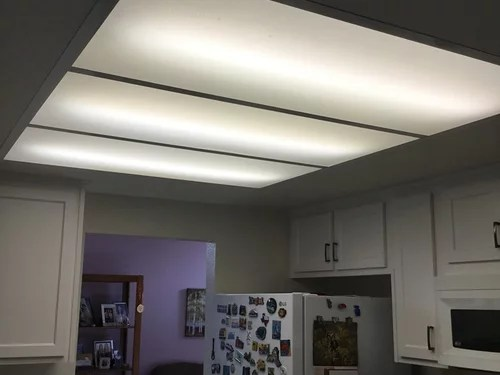 Replacing Fluorescent Lighting Fixture In Kitchen