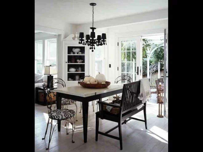 Beach Style Dining Room by SchappacherWhite Architecture D.P.C.