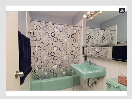 green retro bathroom