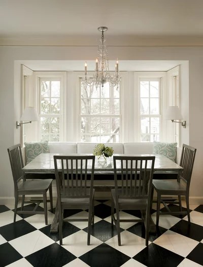 Traditional Dining Room by Deborah Scheck