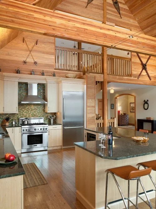 Cathedral Ceiling Kitchen Home Design Ideas Pictures