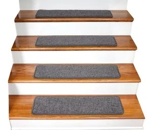Tape Free Non Slip Carpet Stair Treads Set Of 15 Contemporary   Non Slip Strips For Carpeted Stairs   Grip   Stair Nosing   Gravel   Slip Resistant   Brown Cinnamon