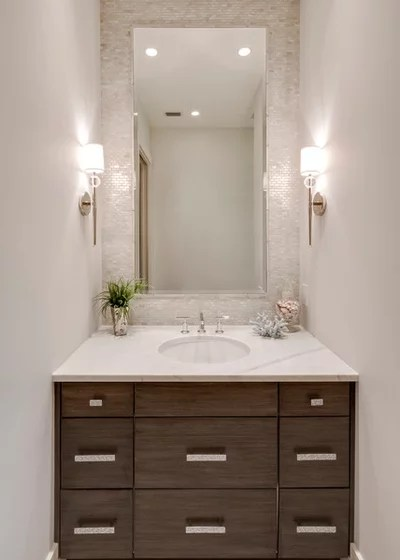 Beach Style Powder Room by 41 West