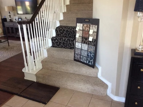 I Need Help With Patterned Carpet On My Stairs Mixing Up Patterns | Leopard Carpet On Stairs | Diamond Pattern | Fawn | Stark | Carpeted | Striped