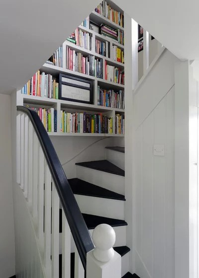Farmhouse Staircase by Nicola O'Mara Interior Design