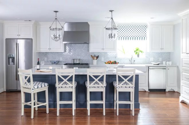 Transitional Kitchen by Sophia Designs