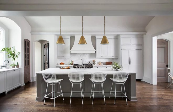 Transitional Kitchen by Ryan Street & Associates