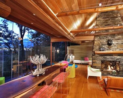 Updated Log Cabin Houzz