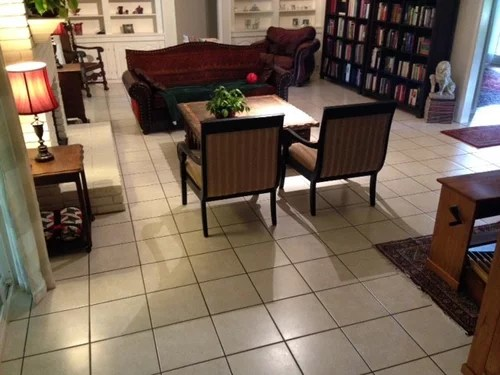 need help with endless white tile floors