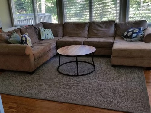 Rug Under A Sectional Couch