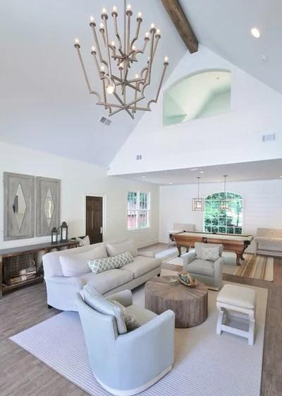 Contemporary Family Room by Innovative Construction Inc.