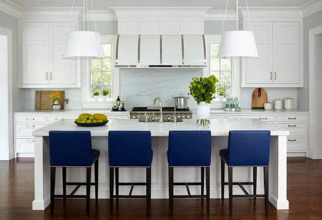 Transitional Kitchen by DEANE Inc   Rooms Everlasting