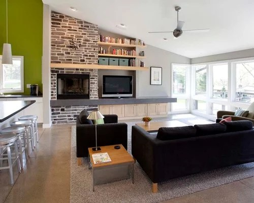 Tv Next To Fireplace Home Design Ideas Pictures Remodel