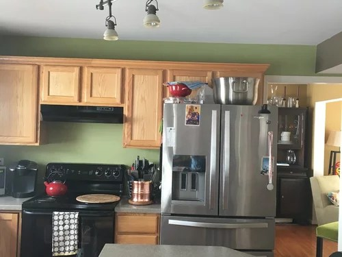 have angled track lighting in kitchen