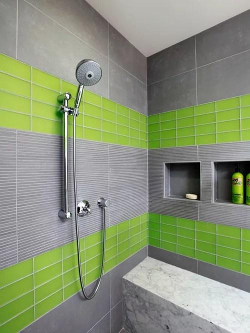 Grey And Green Bathroom Houzz