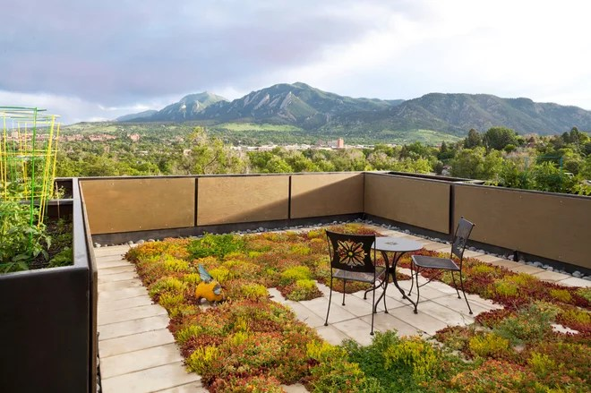 Contemporary Deck by Treeline Homes, Inc.