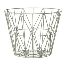 contemporary wire baskets houzz