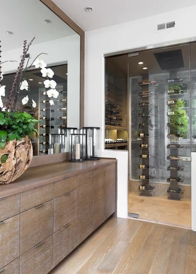 Contemporary Wine Cellar by Urban Restoration