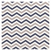 Trend Lab Chevron Deluxe Flannel Fitted Crib Sheet, Navy and Gray