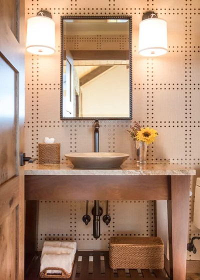 Rustic Powder Room by AXIS Productions