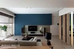 couleur mur sejour et meuble tv