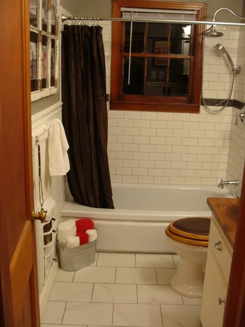1940s Bungalow Bathroom FarmhouseWestern Style