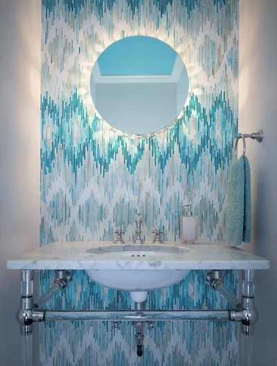 Contemporary Powder Room by Beckwith Interiors