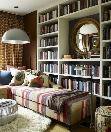 Eclectic Family Room by Thom Filicia Inc.