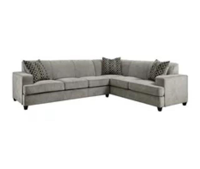 Coaster Fabric Sleeper Sectional Gray