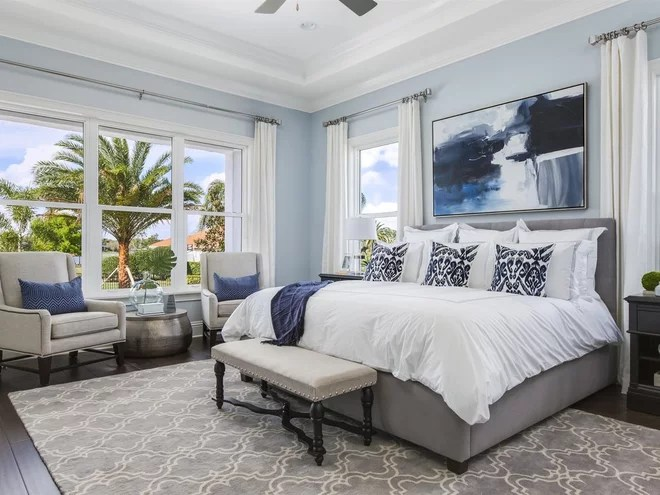 Transitional Bedroom by Element Home Builders