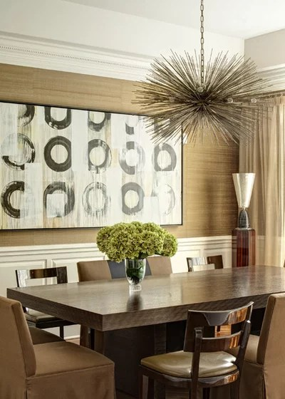 Contemporary Dining Room by Handman Associates