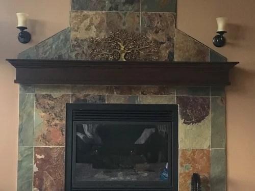 hate my slate fireplace