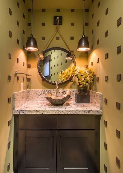 Rustic Powder Room by Tanamera Construction / TC Homes
