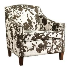 Lounge Chair With Cow Print