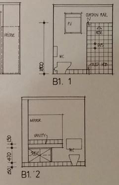 Small L-Shaped bathroom, layout idea needed | Houzz AU