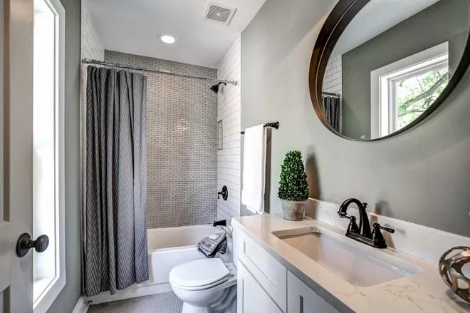 Transitional Bathroom by Carl Mattison Design