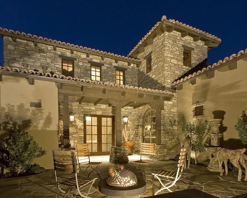 Stone Stucco Exterior Home Design Ideas Pictures Remodel