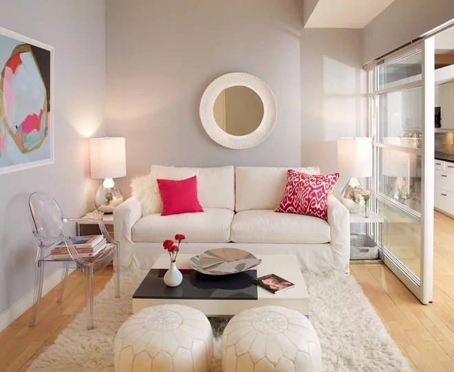 Transitional Living Room by Tara Benet Design