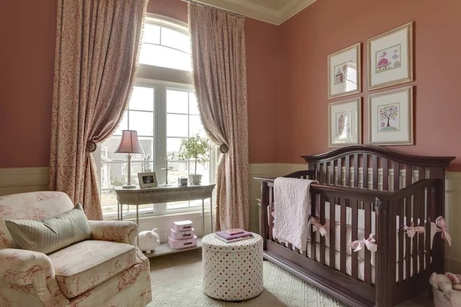 Traditional Nursery by McCroskey Interiors