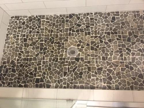 river rock tile problems