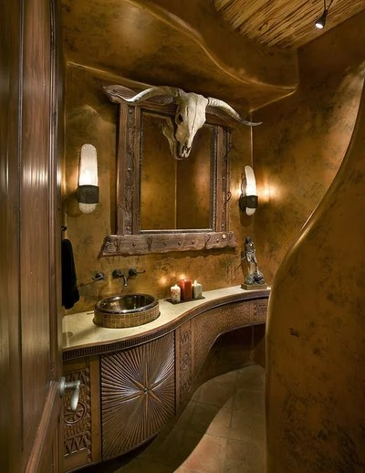 Southwestern Powder Room by Bess Jones Interiors