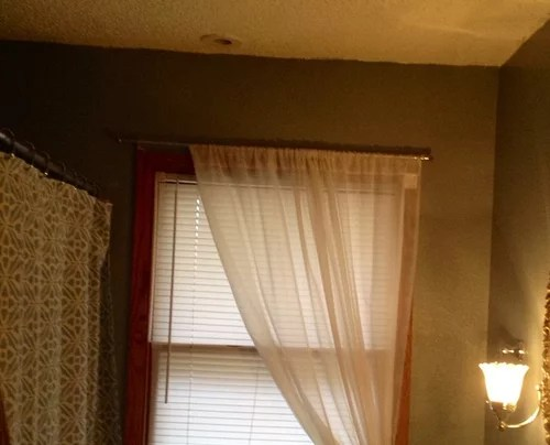 height of shower and window curtains in