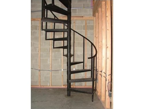 Metal Spiral Staircase Riser Toe Kick Retrofit For Dog Safety | 9 Foot Spiral Staircase | Stair Railing | Mylen Stairs | Stairway | Stair Parts | Staircase Railings