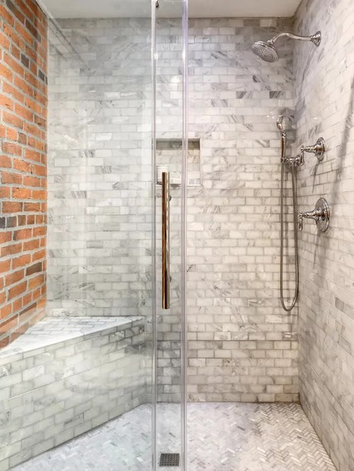 Brick Shower Houzz
