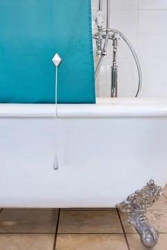 clawfoot bath shower curtain solution