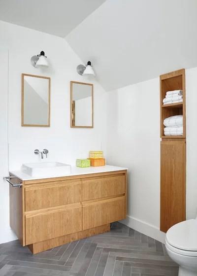 Scandinavian Bathroom by Lisa Lev Design