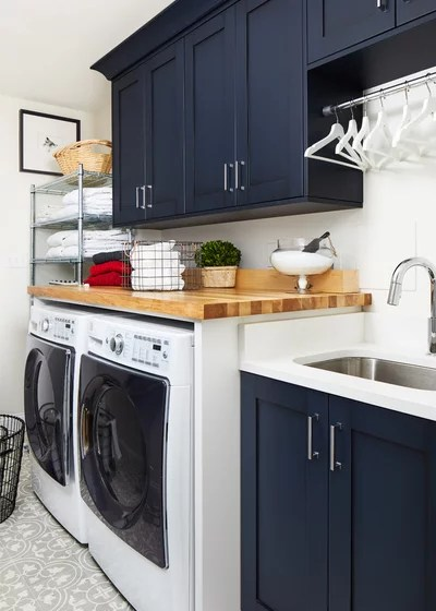 Transitional Laundry Room by JACK ROSEN CUSTOM KITCHENS