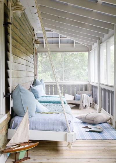 Beach Style Porch by Nathaniel Ebert