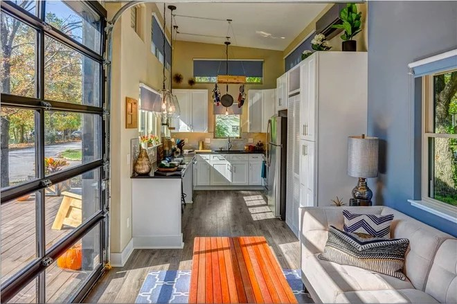 """Living Room """"Amplified"""" Tiny House"""